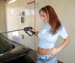 At the car wash